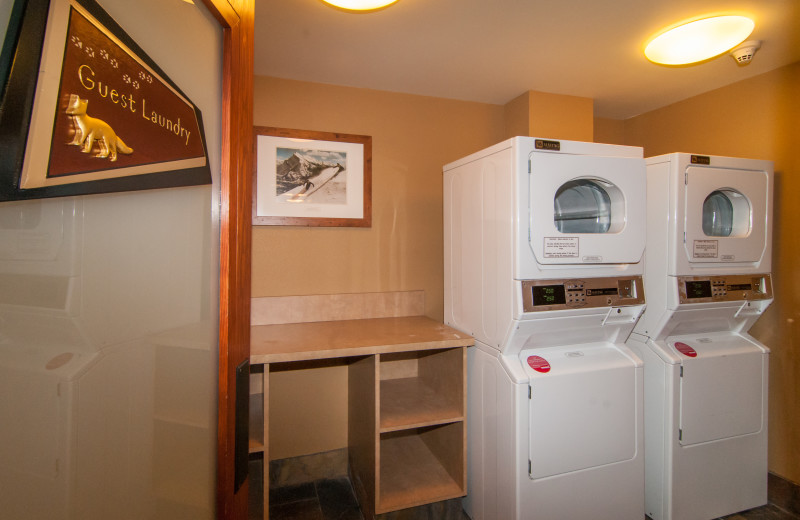 Laundry at The Fox Hotel & Suites in Banff.