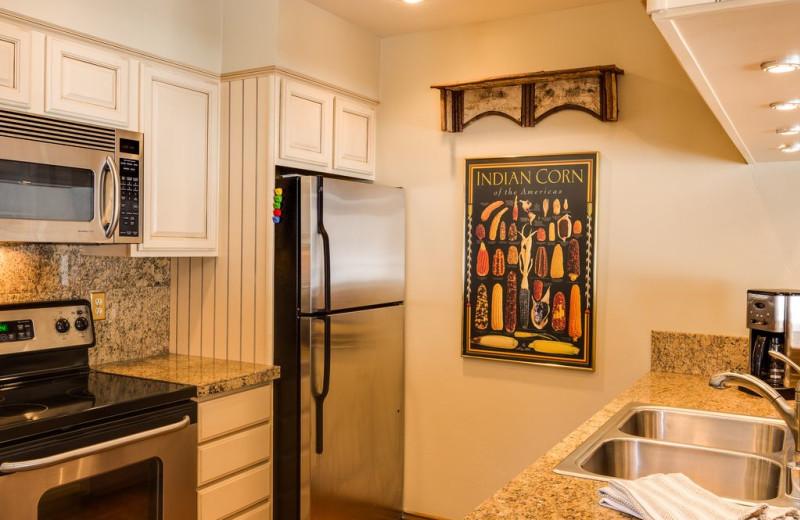 Rental kitchen at Durango Colorado Vacations, LLC.