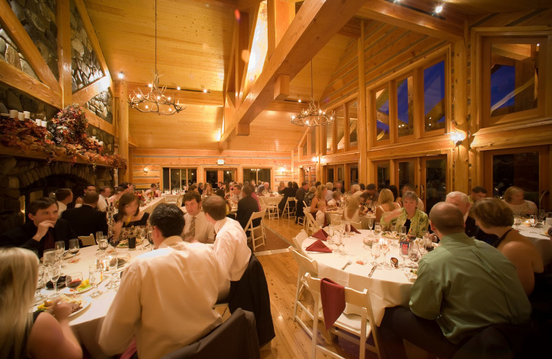 Wedding dinner at Mountain Springs Lodge.
