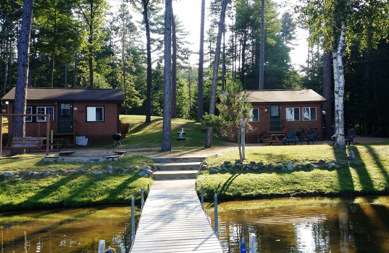 Rental cabins at Harv's Vacation Rentals.