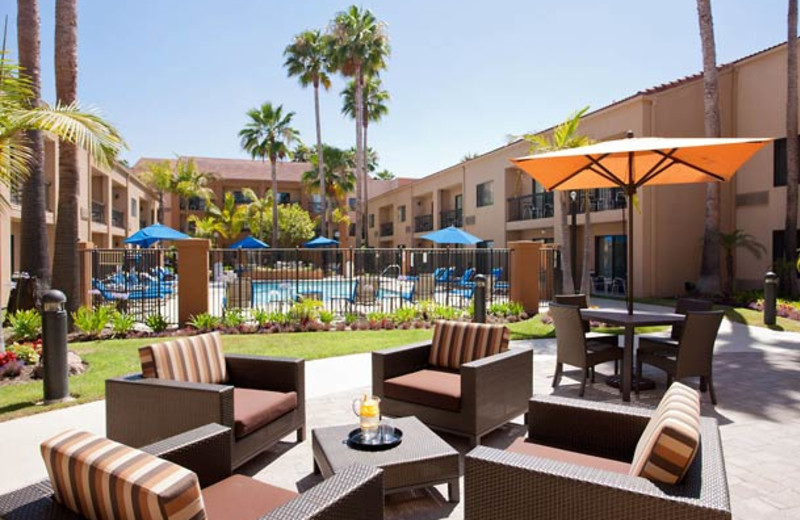 Patio view at Courtyard by Marriott Los Angeles Hacienda Heights/Orange County.