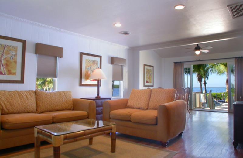 Suite living room at Atlantic Bay Resort.