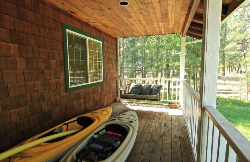 Rental porch at Sisters Vacation Rentals.