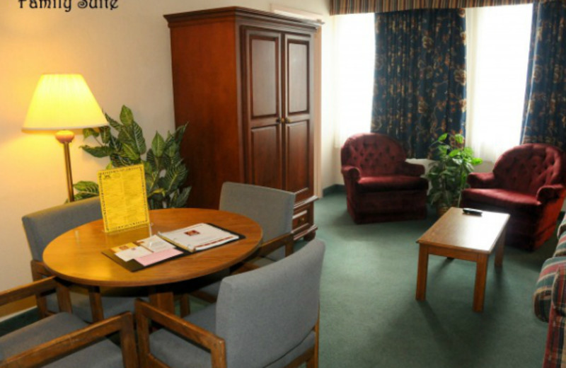Family suite at Clarion Hotel at The Palace.