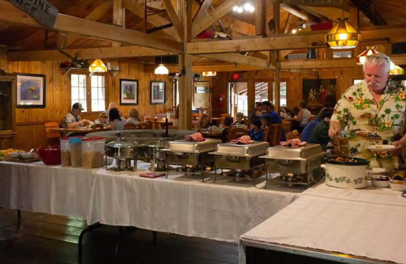 Dining at Mattawa River Resort.