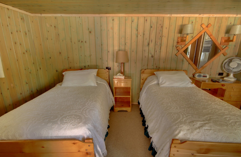 Cabin two beds at River Orchard Place.