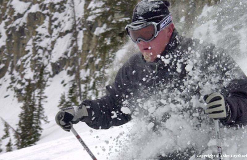 Skiing at Bar N Ranch.