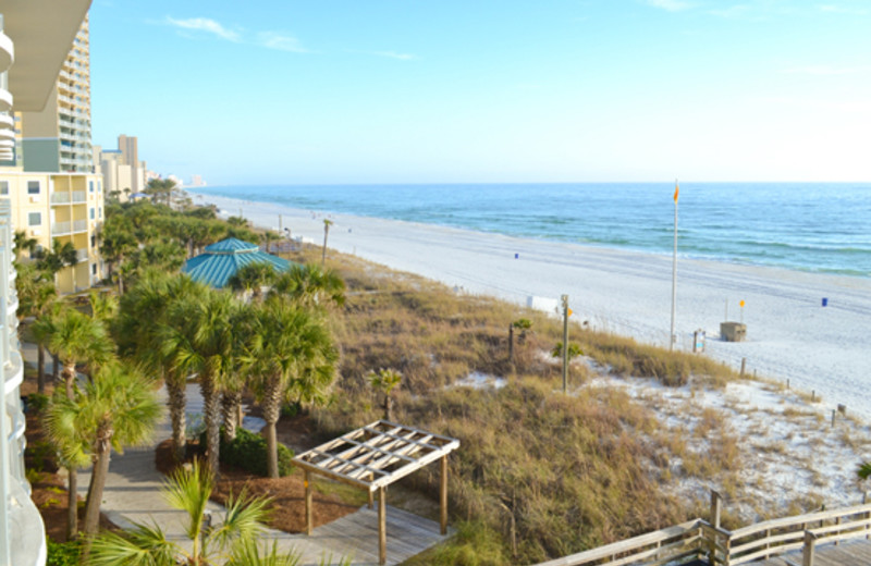 View of the beach and Boardwalk at Boardwalk Beach Resort Hotel & Convention Center