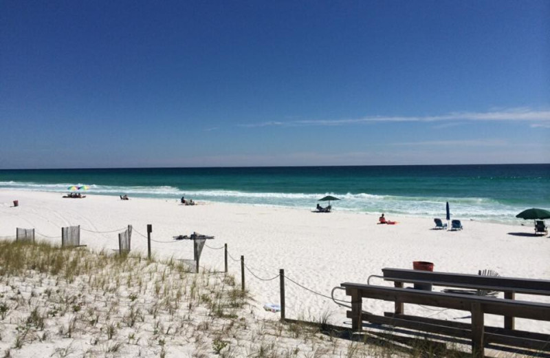 The beach at Emerald Coast Vacation Rentals and Sales.