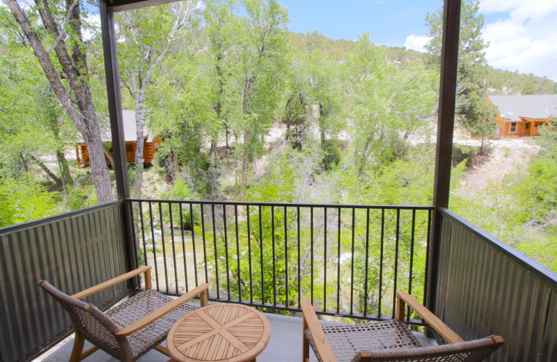 Guest balcony at Mt. Princeton Hot Springs Resort.