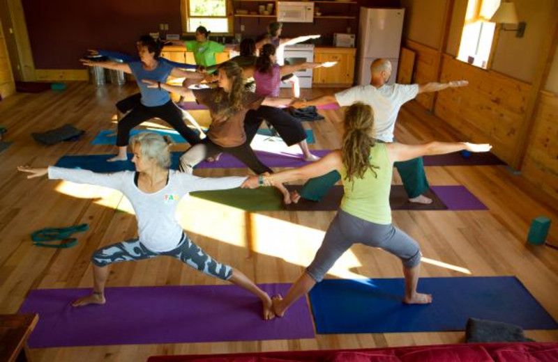 Yoga is a daily morning offering during family camp programs at Common Ground Center.