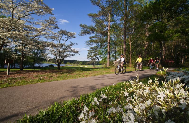 Biking at Callaway Gardens.
