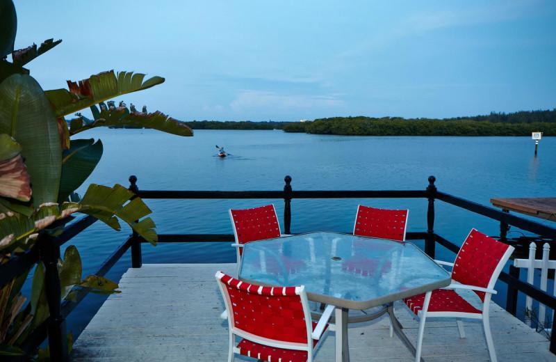 Balcony at Turtle Beach Resort.