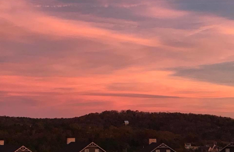 Sunset at Antlers Resort.