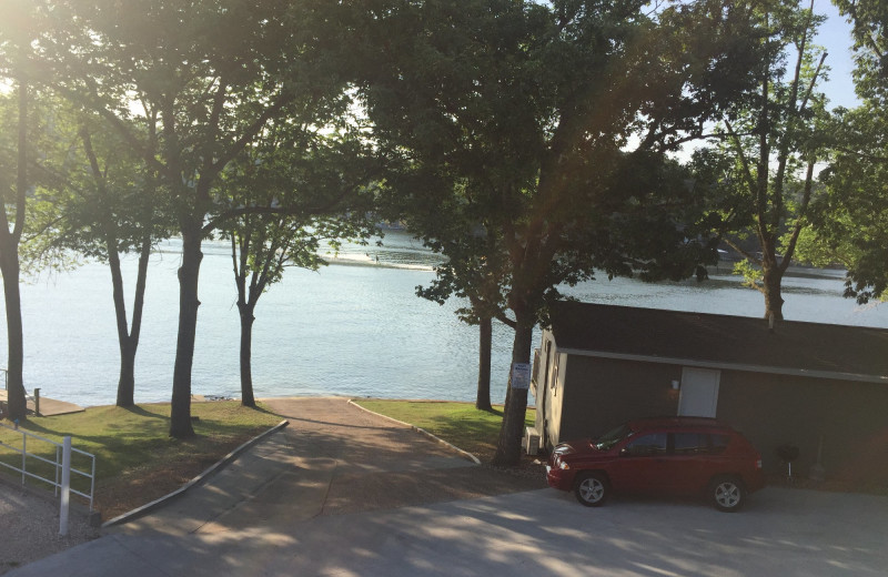 Boat landing at Point Randall Resort.