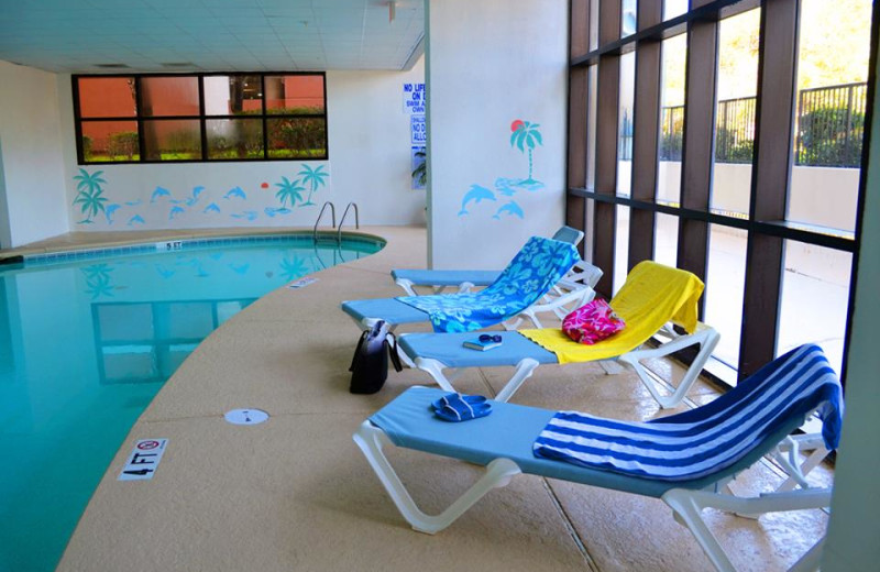 Indoor pool at Grande Shores Ocean Resort.