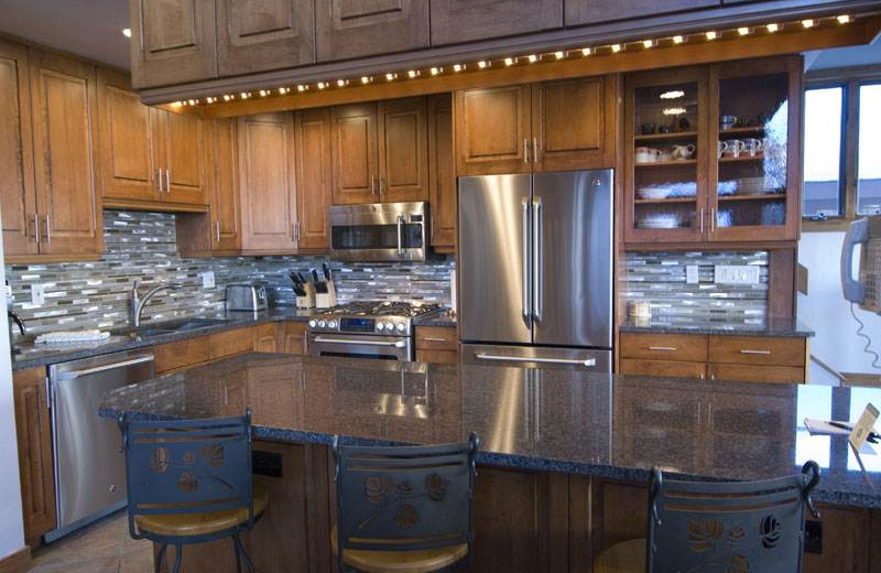 Kitchen at 706A Forest Road - Vail Management Company.
