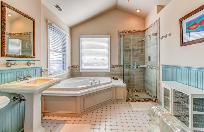 Rental bathroom at Vacasa Ocean City.