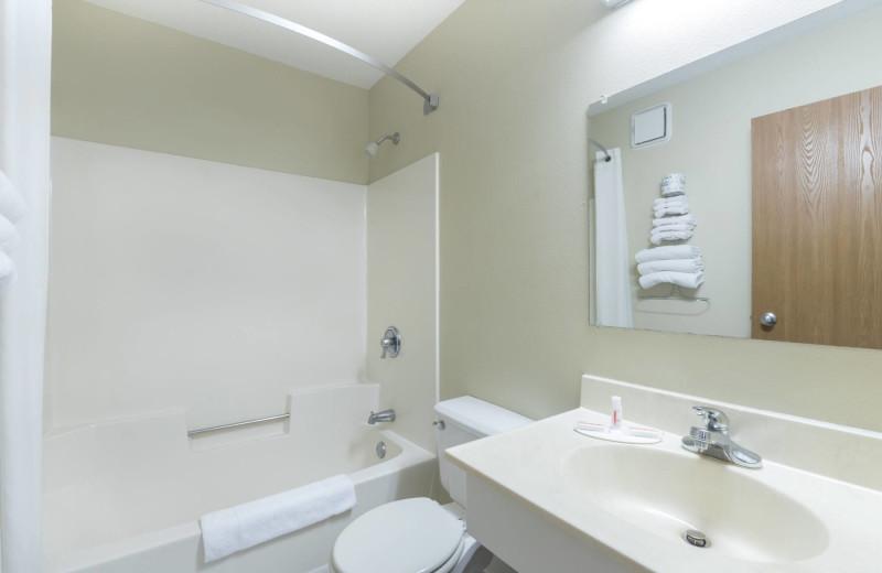 Guest bathroom at Super 8 Perham.