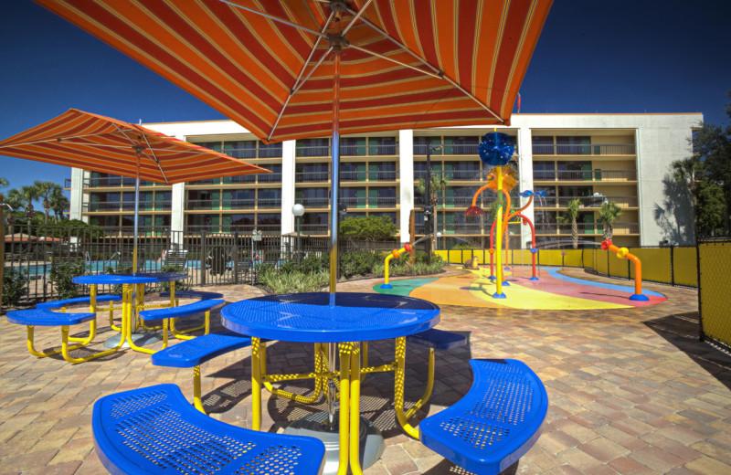 Ozzie's Splash Zone picnic area at Clarion Inn Lake Buena Vista.