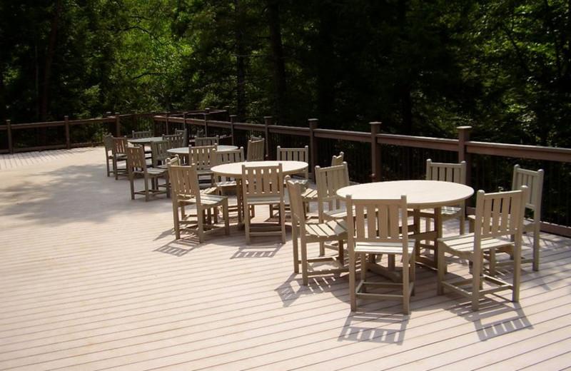 Patio at Rivers Ridge Lodge