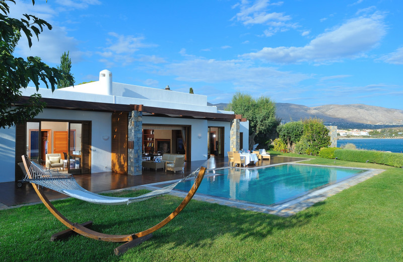 Villa exterior at Grand Resort Lagonissi.