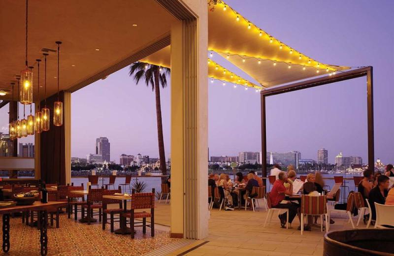 Patio view of Hotel Maya.