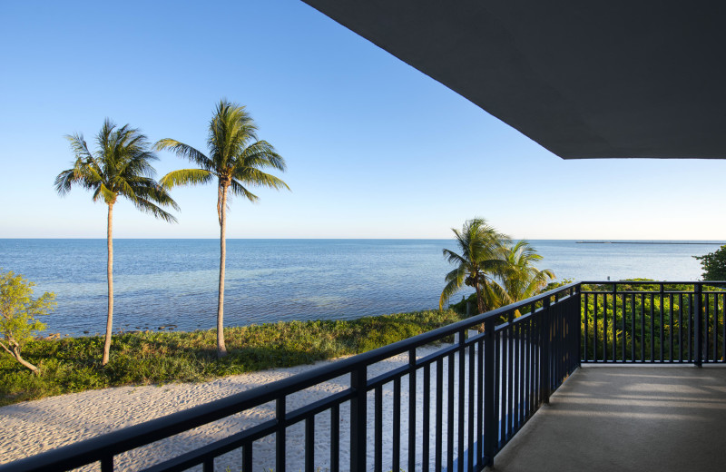 Rental balcony at 1800 Atlantic, All Florida Keys Property Management.