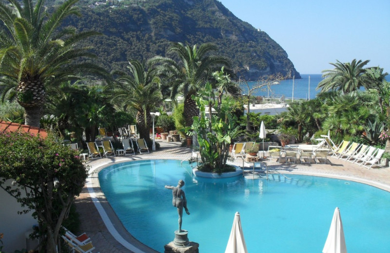 Outdoor pool at Semiramis Hotel.