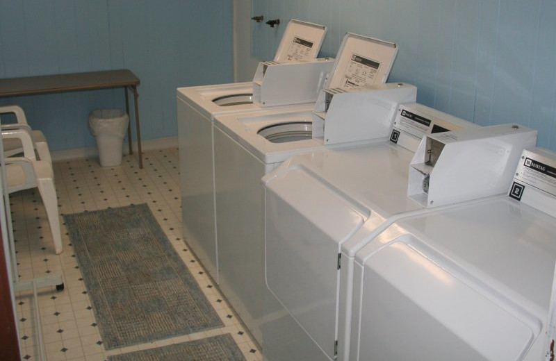 Laundry facilities at Hemlock Campground & Cottages.