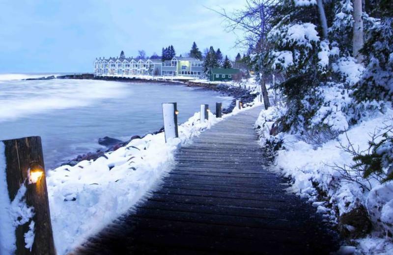 Walking trail at Bluefin Bay on Lake Superior.