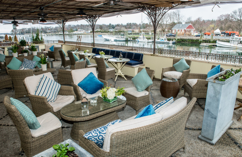 Patio at DELAMAR Greenwich Harbor Hotel.