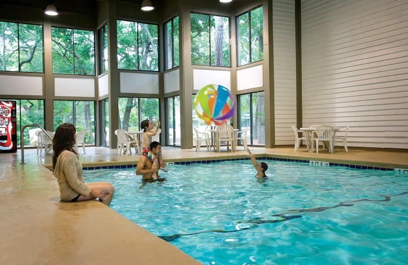 Indoor pool at Ocean Creek Resort.