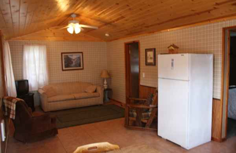 Cabin interior at The Lodge on Otter Tail Lake.
