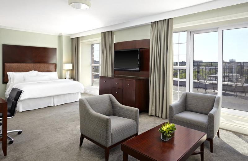 Guest room at The Westin Nova Scotian.