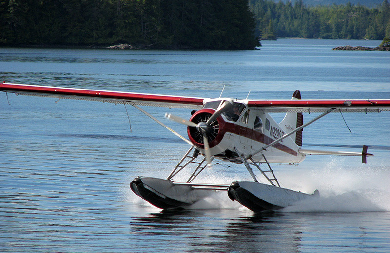 Float plane at portsman's Cove Lodge.
