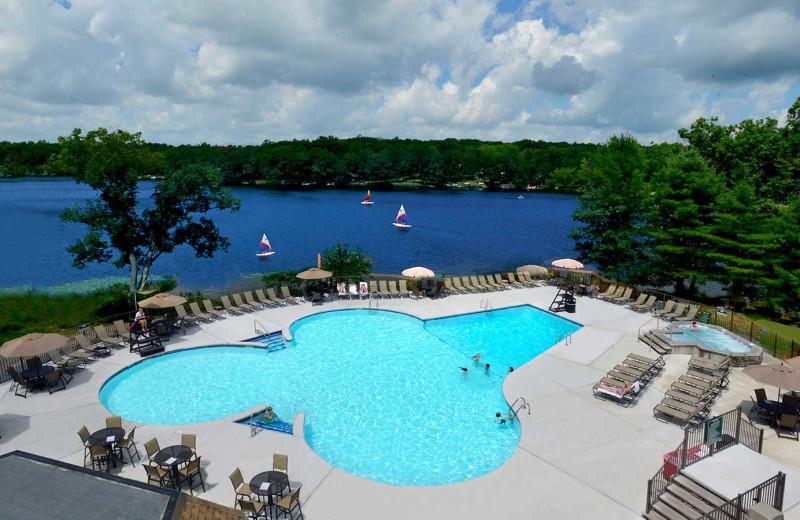 Pool at Woodloch Resort.