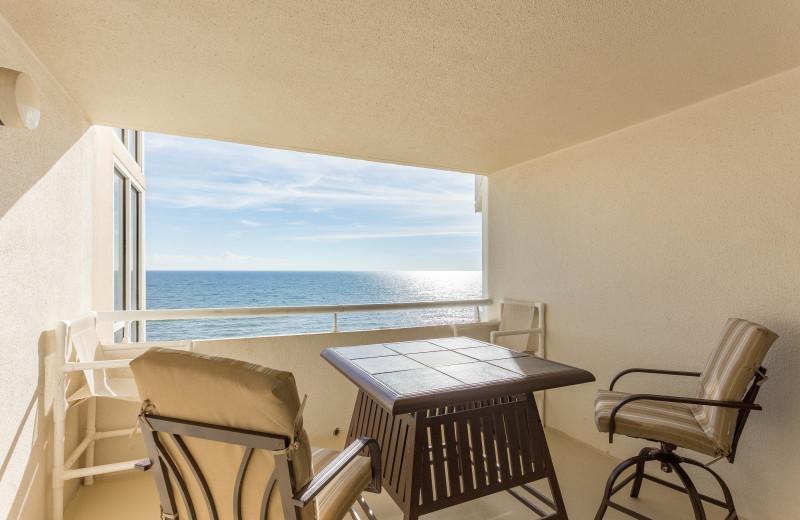 Rental balcony at Perdido Sun Condos.