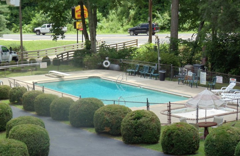 Outdoor Pool at Rocky Waters Motel