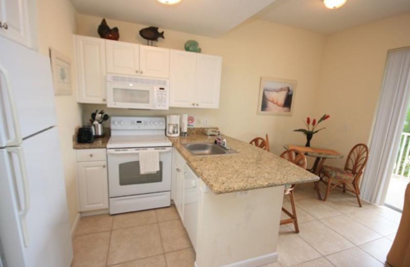 Rental kitchen at Boca Ciega Resort.