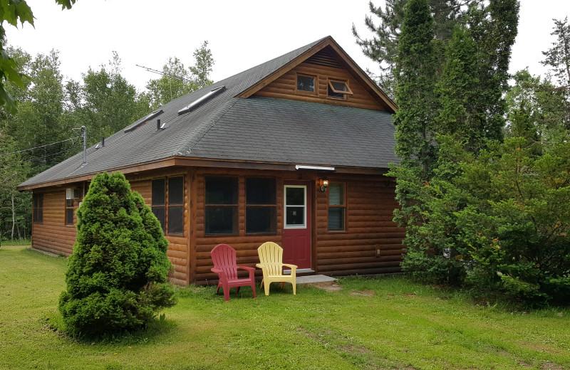 Cabin exterior at Sejour Kouchibouguac Resort