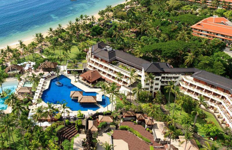 Aerial view of Nusa Dua Beach Hotel and Spa.