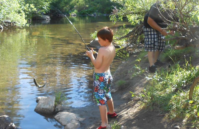 Fishing at Long Barn Lodge.