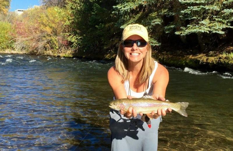 Fishing at Gentry River Ranch.