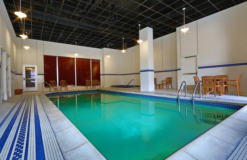 Indoor pool at Sheraton Duluth Hotel.