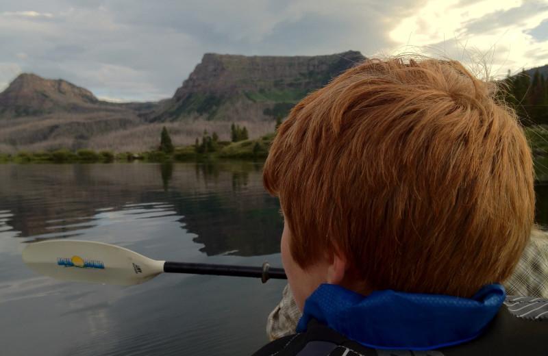 Kayaking at Trappers Lake Lodge & Resort.