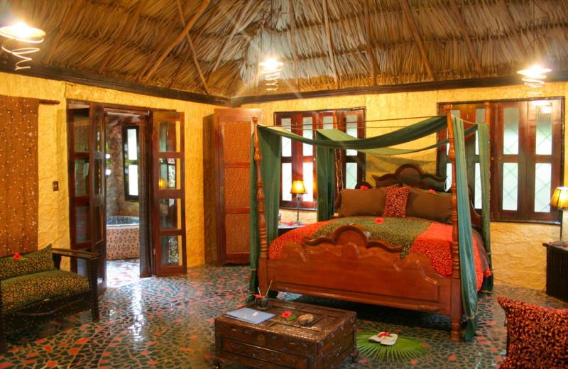 Guest room at Maruba Resort Jungle Spa.