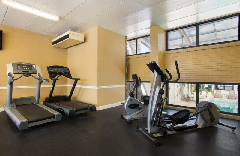 Fitness room at Quality Inn Boardwalk Ocean City.