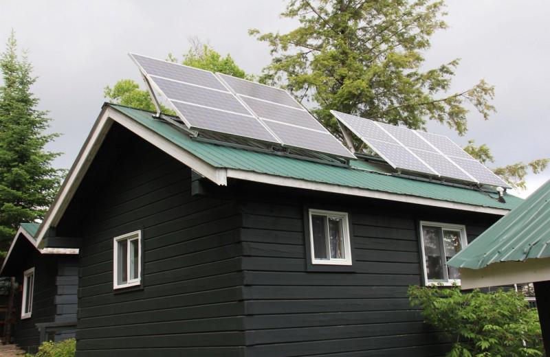Solar panels at Bartlett Lodge.