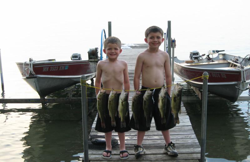 Fishing at Bonnie Beach Resort.